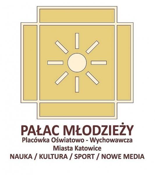Wielka wystawa twórczości plastycznej Wychowanków  Pałacu Młodzieży w Katowicach logo