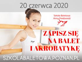 Rekrutacja do Szkoły Baletowej Anny Niedźwiedź w Poznaniu 2020 logo