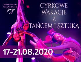 Cyrkowe Wakacje z Tańcem i Sztuką II turnus logo