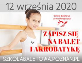 Rekrutacja do Szkoły Baletowej Anny Niedźwiedź w Poznaniu 12 września 2020 logo