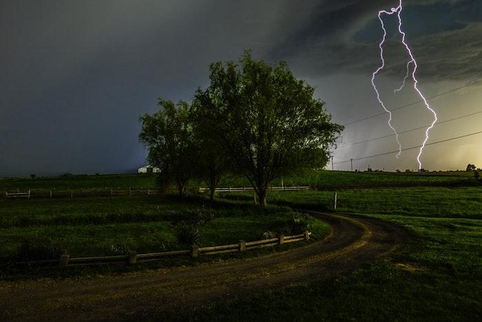 Burza na wsi