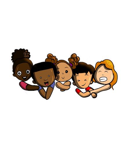 dzieci o różnym kolorze skóry