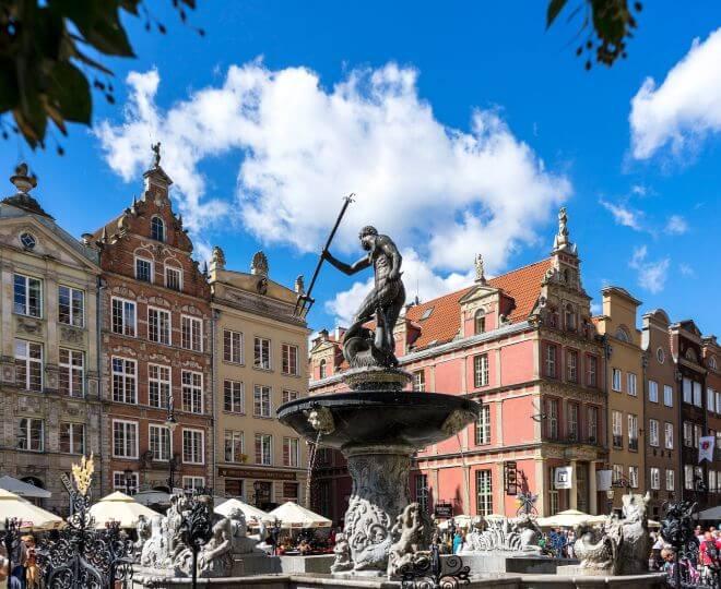 Fontanna Neptuna na gdańskiej starówce