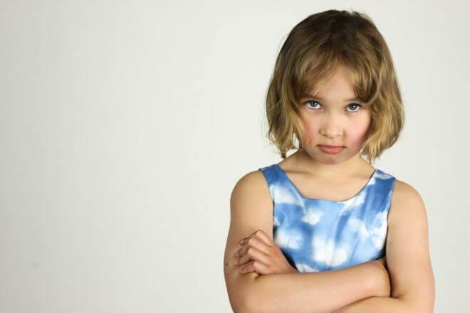 Dziewczynka, która się złości