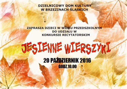 Jesienne Wierszyki 201016 Ddk W Brzezinach śląskich