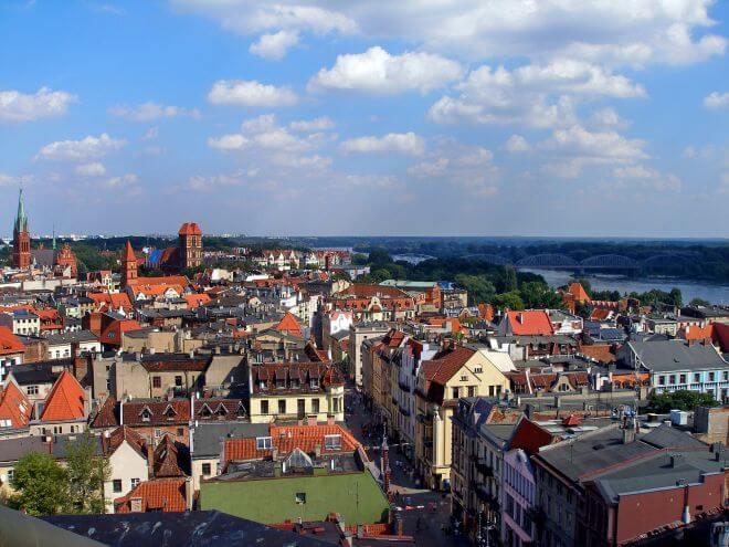 punkt widokowy w Toruniu
