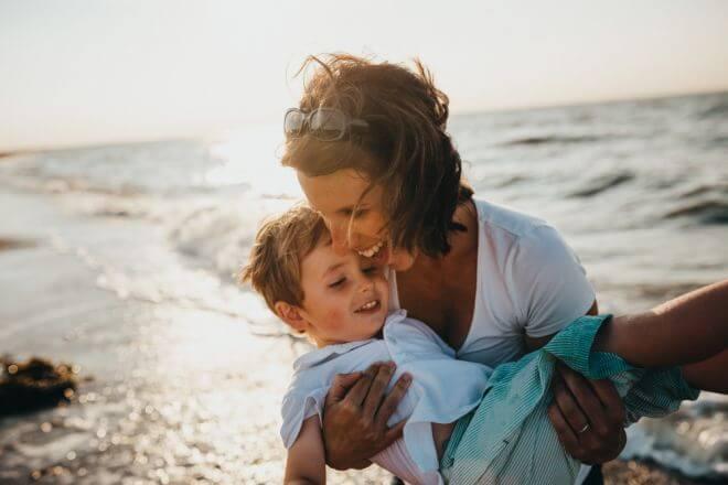 mama i syn na wakacjach